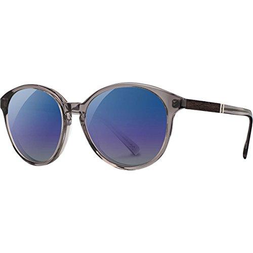 Shwood - Bailey Acetate, Sustainability Meets Style, Smoke/Ebony, Blue Flash Polarized - Eyewear Bailey