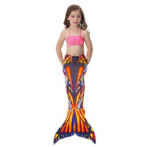 Girls Womens Mermaid Swimming Mermaid XFentech Accessories Tail for Swimwear Mermaid Headdress Performance Monofin Cosplay Shell 9 Halloween Flower Tail Bra d8w5wq