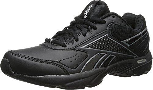 Reebok Men's Daily Cushion 2.0 RS Walking Shoe,Black/Gravel/Flat Grey,12.5 M US