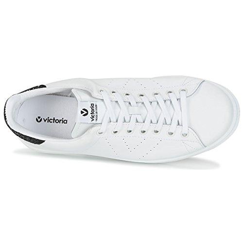 Basket Piel Adulto Bianco Unisex Nero Deportivo Sneaker Victoria qZnFEB5S