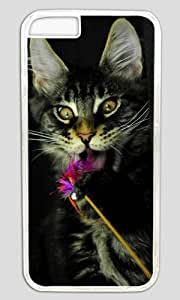 lovely Cute Cat Animal Easter Thanksgiving Masterpiece Limited Design PC Transparent Case for iphone 6 plus by Cases & Mousepads