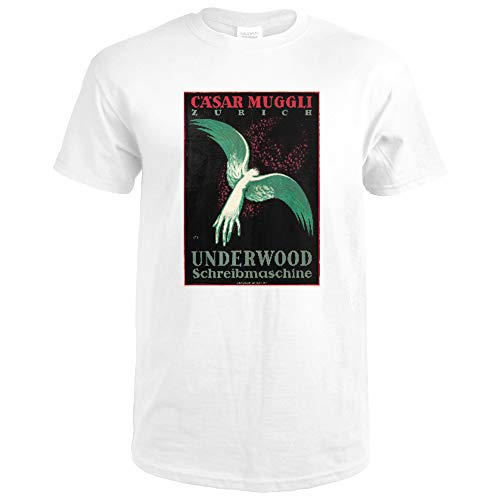 Underwood Vintage Poster (artist: Moos, Carl) Switzerland c. 1918 65581 (Premium White T-Shirt X-Large)