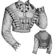 Bretelles Costume (1868 Waist with Bretelles Pattern)
