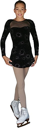 ChloeNoel DLV675 - Sparkle A-line Velvet Dress w/ Mesh (Starry Silver Sparkle Black, AL) by ChloeNoel