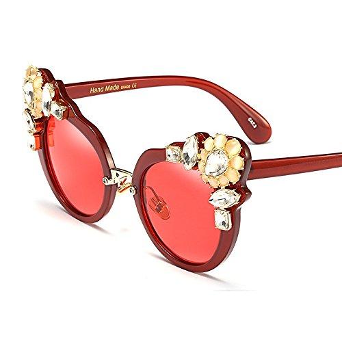 Mujeres Para Ojo Gafas De Lujo De TIANLIANG04 Moda Cristal De Gafas clear Ojo Gato Con Verano De De De La De red Sexy Marrón Gato Claro Uv400 Mujer Sol wqxEXZE8