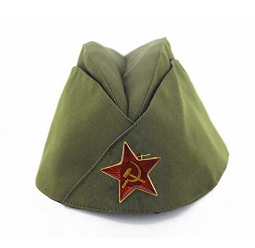 Russian Army Cap Tricorne Green Camo Bonnet Star Logo Women Sailor Military Stage Performance Dance Hats Chinese Boat Caps 6