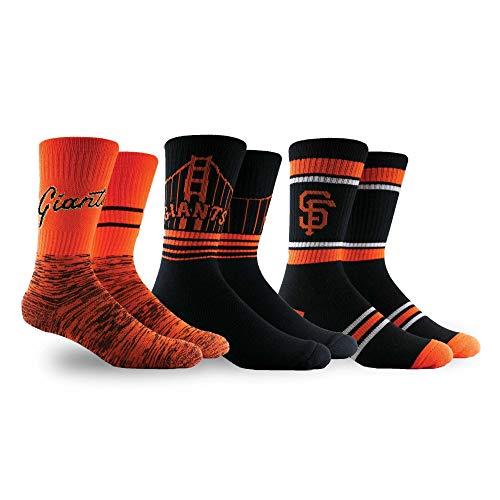 PKWY by Stance MLB Men's Team 3-Pack Socks (Large, San Francisco Giants)