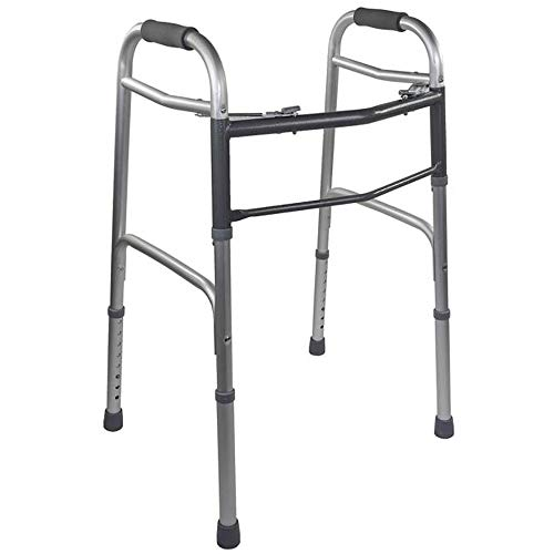 KosmoCare Premium Imported Light weight Aluminum Height adjustable Folding Walker (Bronze – Reciprocal)