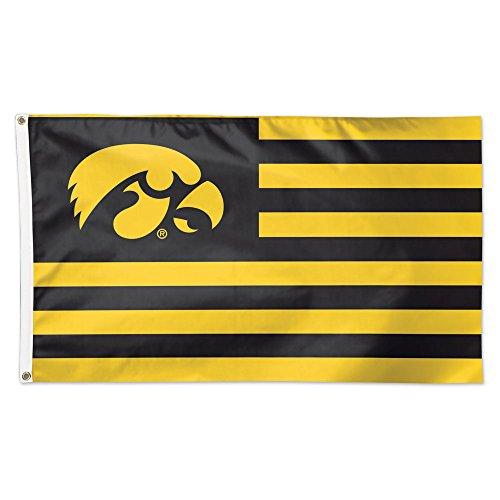 - NCAA Iowa Hawkeyes Stars & Stripes Flag Deluxe, 3 x 5-Foot
