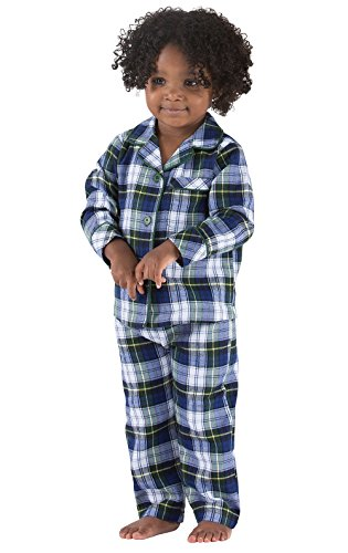 Plaid Flannel Pajama Top (PajamaGram Tartan Flannel Classic Plaid Pajamas With Button-Front Top, Green, 3T)