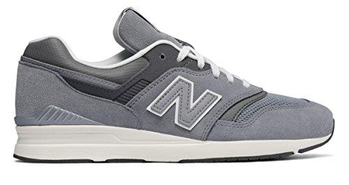 原告ウォーターフロント常習者(ニューバランス) New Balance 靴?シューズ レディースライフスタイル Leather 697 Grey グレー US 9 (26cm)