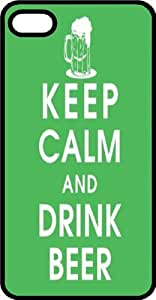 Keep Calm & Drink Beer Black Rubber Case for Apple iPhone 5c
