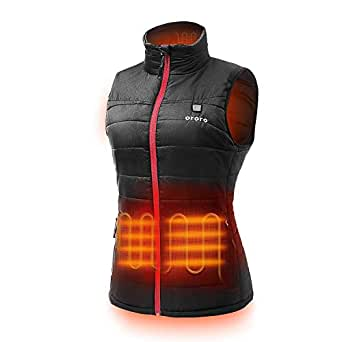 ORORO Women's Lightweight Heated Vest with Battery Pack, M