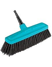 GARDENA combisystem huishoudbezem: Bezem voor het aanvegen van vuil binnenshuis, 34 cm werkbreedte, borstels van kunststof en paardenhaar, geen schade aan meubels dankzij afgeronde randen (3630-20)