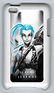 Jinx League of Legends ipod touch 4 White Sides Hard Shell Case by eeMuse
