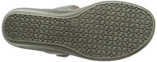 Caprice 27250, Sandalias con Cuña para Mujer Gris (Lt Grey Nubuc)