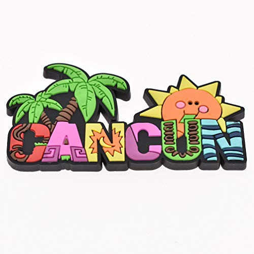 Qlychee Cancun Fridge Magnet Refrigerator DIY PVC Making Decor 3D Souvenir Decor