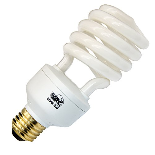 LUCKY HERP Reptile UVA UVB Light 5.0 Compact Fluorescent Tropical Terrarium Lamp 13 26 Wattage (26W)