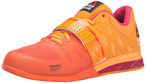 Reebok Women's R Crossfit Lifter 2.0 Training Shoe, Flux Orange/Hazard Orange/Magenta Pop/Black, 9 M US