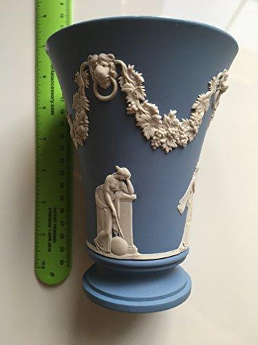 Grapevine Pedestal (Wedgwood White Muses & Grapevine Relief, Pale Blue Jasper Vase / Pedestal Vase / 6-Inch Blue Jasperware Vase)