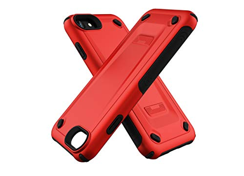 iPhone 7 Case,iPhone 8 Case,DAMONDY Armor Heavy Duty Premium Hybrid Shockproof Defender Full-Body Rugged Dual Layer Silicone Protector Case Compatible with iPhone 8/iPhone 7-red
