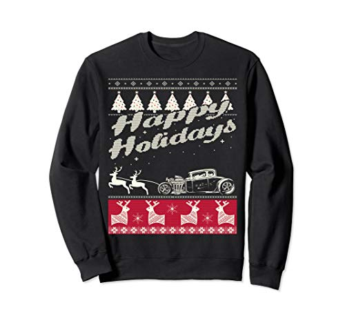 Classic Hot Rod Ugly Christmas Sweatshirt