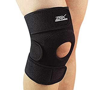 Knee Brace Support by ZSX Brands - For Pain Relief from Meniscus Tear, Arthritis, Running, Walking, Torn ACL, and MCL. Helps Injury Recovery. Adjustable Compression - XLARGE (18 - 21 Inch)