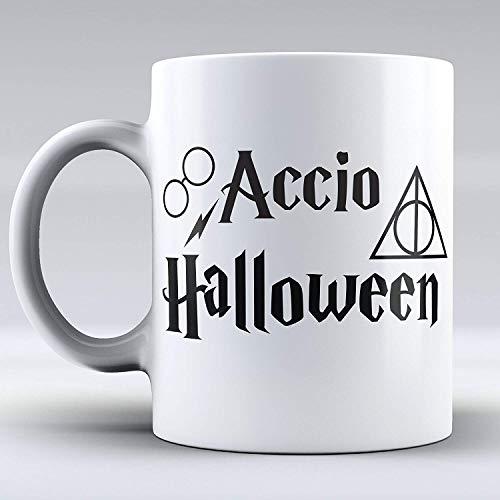 Funny Mug - Quote Inspiration - Accio Halloween - Magic - Spell - Coffee Cup - Crazy Mug - Gift Mug - Unique Coffee Mug - Drink - White Mug - Have a Nice Day - This a Perfect Gift