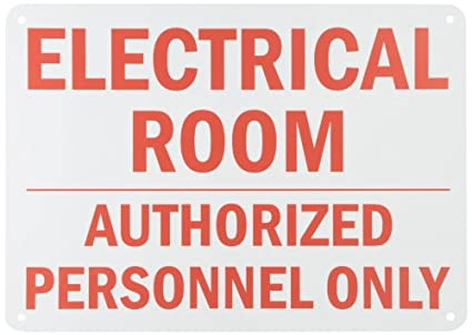 Smartsign Plastic Sign Legendelectrical Room Authorized Personnel