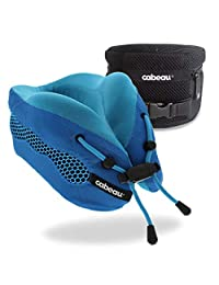 Cabeau Evolution Cool Travel Pillow- The Best Air Circulating Head and Neck Memory Foam Cooling Airplane Neck Pillow
