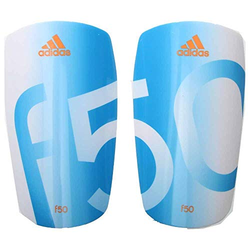 - adidas Performance F50 Lesto Shin Guard, White/Solar Blue/Solar Zest Orange, Large