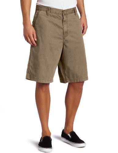 Dickies Men's 11 Inch Regular Fit Herringbone Short, Tobacco, 38