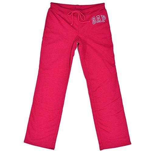 Gap Womens Fleece Arch Logo Sweatpants (New Magenta, X-Large) (Gap Drawstring)