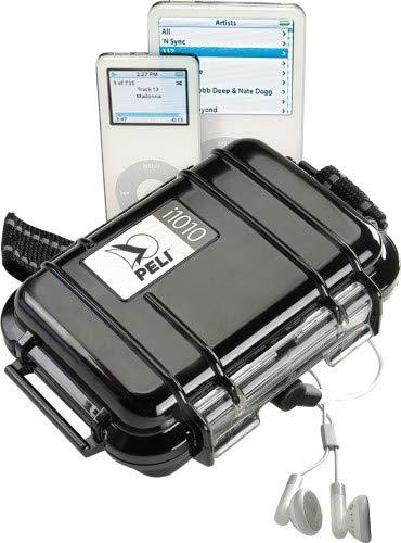 Peli i1010 Micro Case Black Fits iPods, Jack Entrance, 1010-045-110E (Fits iPods, Jack Entrance Water/Crush/dust Resistant)