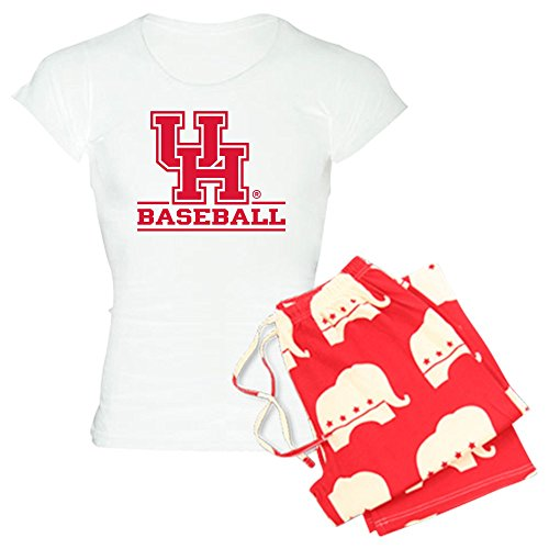 CafePress Houston Cougar Baseball Womens Novelty Cotton Pajama Set, Comfortable PJ Sleepwear ()