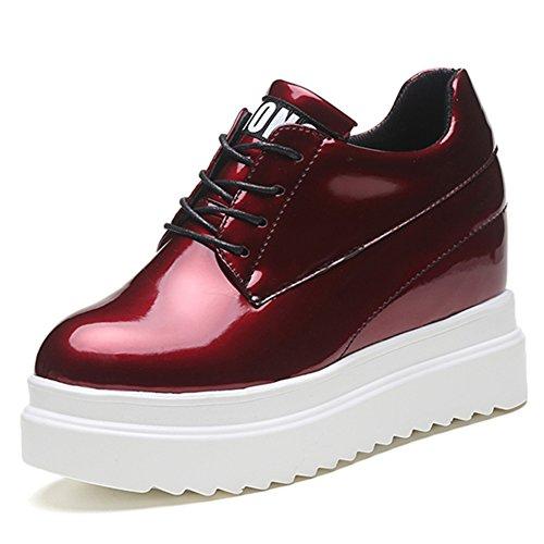 Zapatos casuales alta gruesos al final de la primavera/zapatos de los estudiantes con cabeza redondeada/Zapatos impermeables D