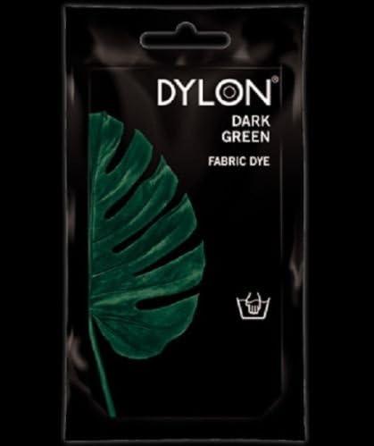 Verde oscuro - tinte Dylon a mano tela de algodón diseño de ...