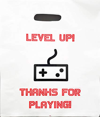 Video Game Party Favors Bags, Gamer Game On Theme Goody Bag Girls Boys Teens Tweens Super Strong for Treat Toys Gifts Candy Prizes Loot Birthday Supplies Pixel ()