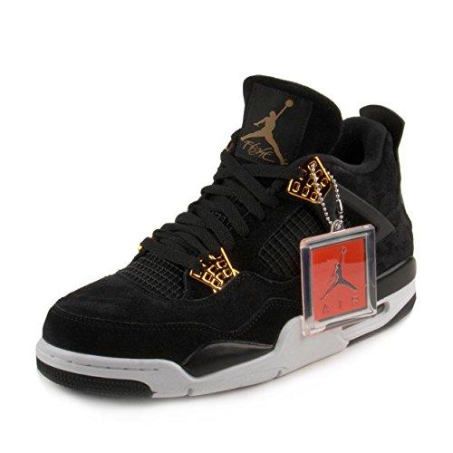 Nike Men's Air Jordan 4 Retro Black/Metallic Gold/White 308497-032 (SIZE: - 4 Cheap Retro