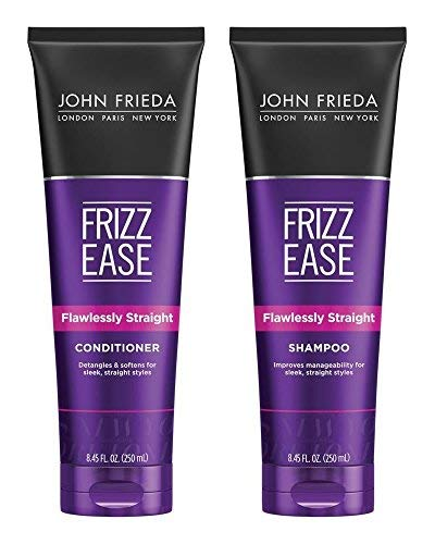 John Frieda Frizz-Ease Flawlessly Straight Shampoo and Conditioner Duo Set, 8.45 Ounce Each (John Frieda Full Repair Shampoo And Conditioner)
