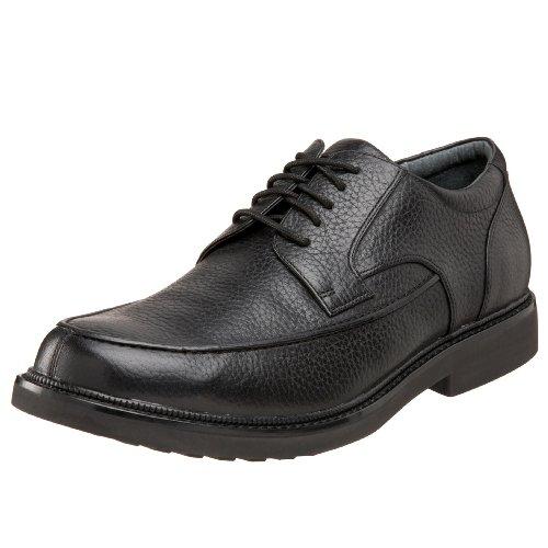 Apex Men's Lexington Moc Toe Oxford Sneaker, Black, 9 Medium US