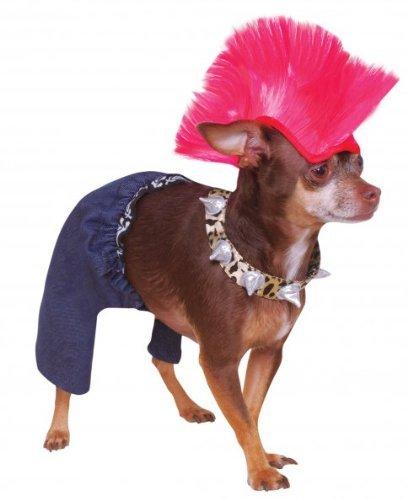 Rubie's Punk Rocker Pet Costume and Wig,