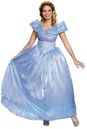 Disney Women's Cinderella Movie Ultra Prestige Adult Costume, Blue, Small