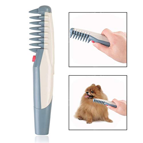 lovecabin Electric Pet Grooming Comb Brush Cuts Tangles and Knots Shedding Tool Pet Epilator Pet Electric Shaving Shears of Dog and Cats with Short, Medium, Long and Double Coats and Hair