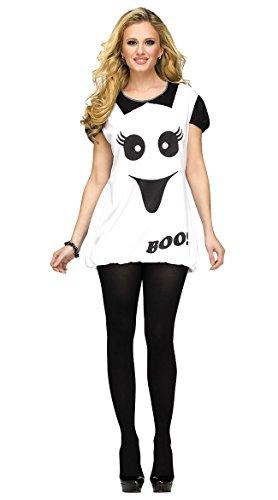 Ghost Romper Boo Adult Costume, Medium/ (Cute Ghost Costume)