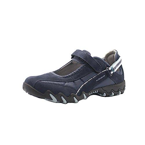 Allrounder Chaussures De Sport Niro Femmes Daim Bleu Foncé / Mesh