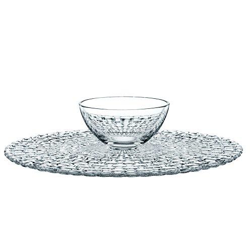 Spiegelau&Nachtmann, Kuchenplatte/Chip and Dip, Rund, Kristallglas, Durchmesser: 32 cm, Bossa Nova, 0077809-0