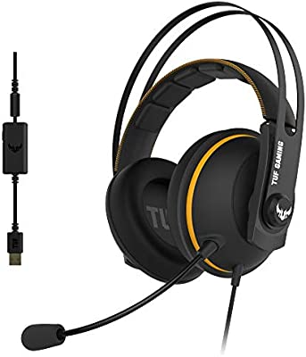 ASUS TUF Gaming H7 Yellow - Auriculares compatibles con PC, Mac ...