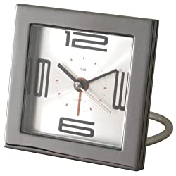 Bai Square Diecast Solid Metal Travel Alarm Clock, Velocity