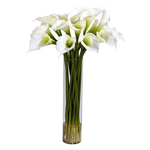 Calla-Lilly-with-Cylinder-Silk-Flower-Arrangement